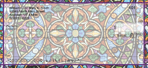 Stained Glass Personal Checks