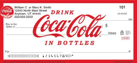 History of Coca-Cola® Personal Checks