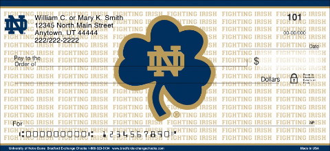 University of Notre Dame Personal Checks