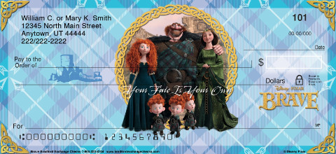 Disney Pixar Brave Personal Checks