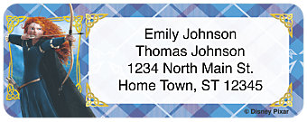 Disney Pixar Brave Return Address Label