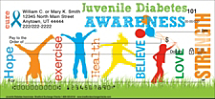 Juvenile Diabetes Awareness Personal Checks