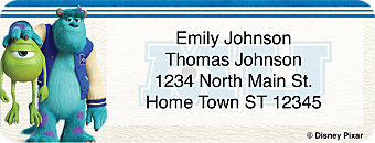 Monsters University Return Address Label