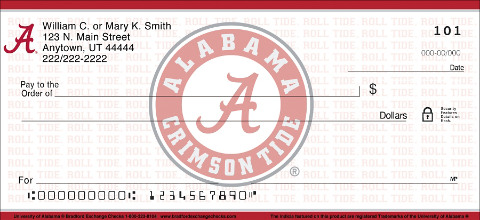 University of Alabama Personal Checks