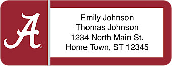 University of Alabama Return Address Label