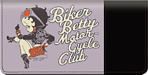 Betty Boop Motorcycle Club Checkbook Cover