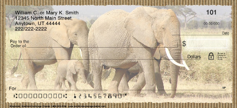Elephants Personal Checks