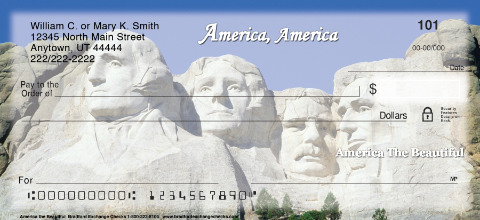 America the Beautiful Personal Checks