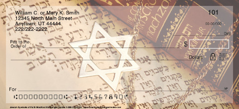 Jewish Symbols of Faith Personal Checks