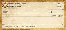 Star of David Personal Checks