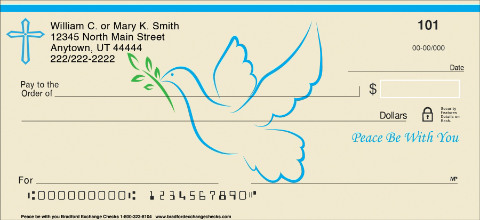 Peace be with You Personal Checks