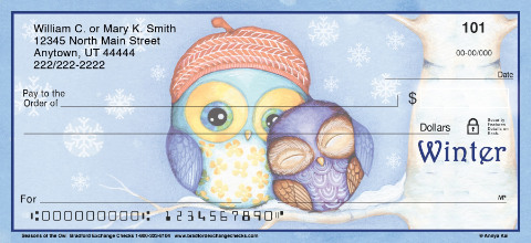 Seasons of the Owl Personal Checks