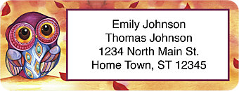 Seasons of the Owl Return Address Label