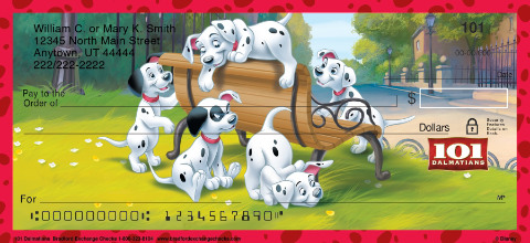 101 Dalmations Personal Checks