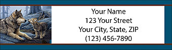 Heart of the Wolf Pack Return Address Label