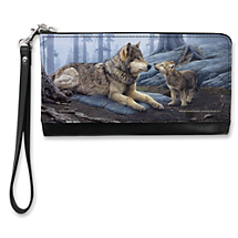 Wear Your Wild Side with Pride When You Carry this Clever Wolf Art Clutch
