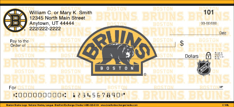 Boston Bruins® Logo NHL® Personal Checks