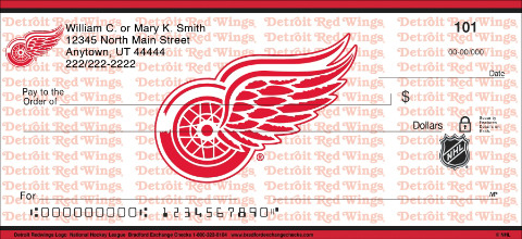 Detroit Red Wings® Logo NHL® Personal Checks