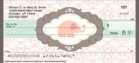 Graphic Elephants Personal Checks