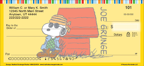 Snoopy Personal Checks