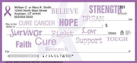 Cure Cancer Personal Checks