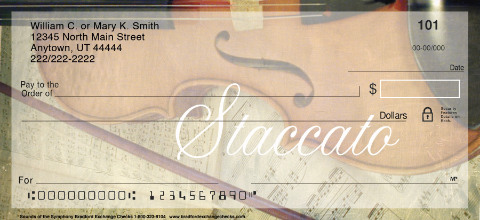 Orchestral Instruments Personal Checks
