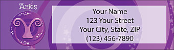 Zodiac - Aries Return Address Label