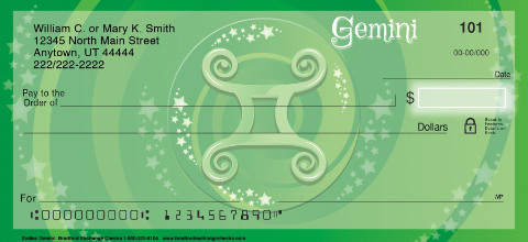 Zodiac - Gemini Personal Checks