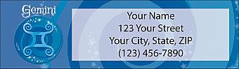 Zodiac - Gemini Return Address Label