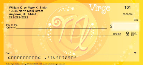 Zodiac - Virgo Personal Checks