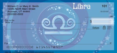 Zodiac - Libra Personal Checks