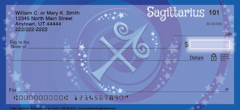 Zodiac - Sagittarius Personal Checks