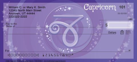 Zodiac - Capricorn Personal Checks