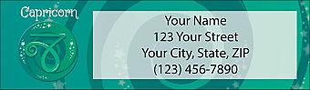 Zodiac - Capricorn Return Address Label