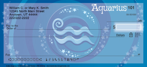 Zodiac - Aquarius Personal Checks