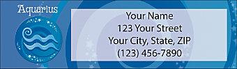 Zodiac - Aquarius Return Address Label