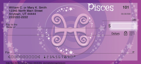 Zodiac - Pisces Personal Checks
