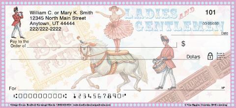 Vintage Circus Personal Checks