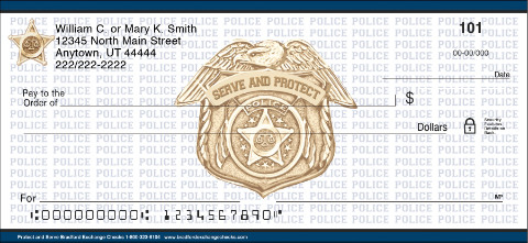 Protect and Serve Personal Checks