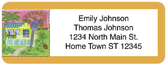 Key West Return Address Label