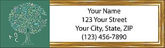Teach Inspire Encourage Return Address Label
