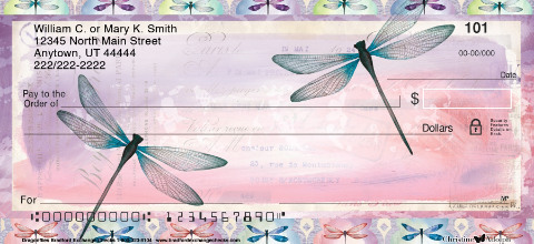 Dragonflies Personal Checks