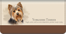 Best Breeds - Yorkshire Terrier Checkbook Cover