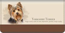 Best Breeds - Yorkshire Terrier Checkbook Cover