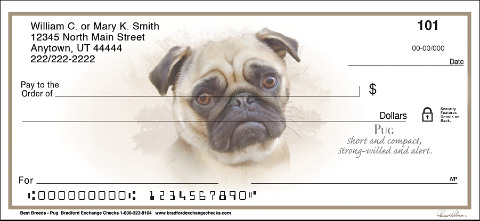 Best Breeds - Pug Personal Checks