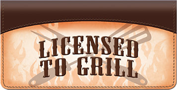 Licensed to Grill Checkbook Cover
