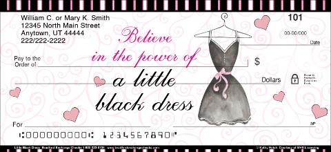 Black Dress Personal Checks