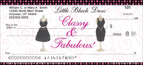 Little Black Dress Personal Checks