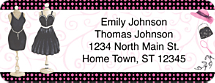 Little Black Dress Return Address Label