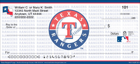 Texas Rangers™ MLB® Logo Personal Checks